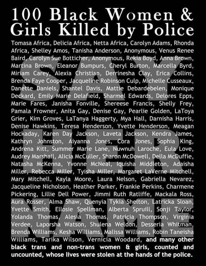 100 Black Women & Girls Killed by Police